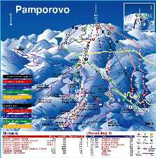 Pamporovo Ski Piste Map